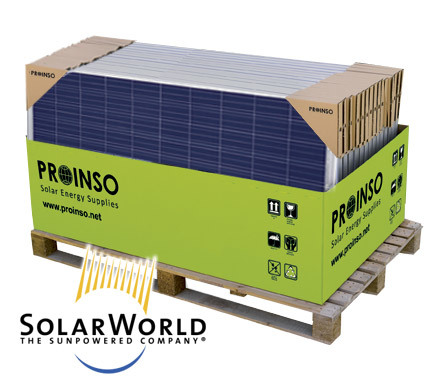 Solar Panels Pallet SOLARWORLD Sunmodule Pro-series Poly 250W (30 modules)